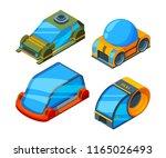futuristic transport. isometric ... | Shutterstock .eps vector #1165026493