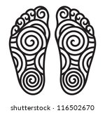 foot symbol | Shutterstock . vector #116502670