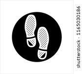 imprint soles shoes icon vector ... | Shutterstock .eps vector #1165030186