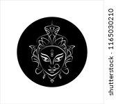 durga goddess of power  divine... | Shutterstock .eps vector #1165030210
