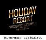 vector luxury logo holiday... | Shutterstock .eps vector #1165031530