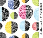 decorative abstract polka dots...   Shutterstock .eps vector #1165032070