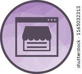 web shop icon   Shutterstock .eps vector #1165032313
