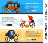 banners with carriage pictures. ... | Shutterstock .eps vector #1165032766
