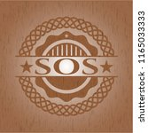 sos wood emblem. retro | Shutterstock .eps vector #1165033333