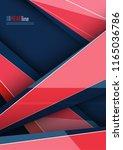 vector modern cover template | Shutterstock .eps vector #1165036786