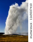 old faithful geyser erupting ...   Shutterstock . vector #1165037410
