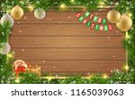 christmas greeting card with... | Shutterstock .eps vector #1165039063
