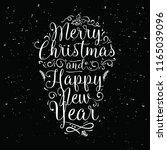 merry christmas. typography....   Shutterstock .eps vector #1165039096