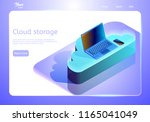cloud data storage abstract... | Shutterstock .eps vector #1165041049