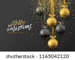 christmas greeting card  design ... | Shutterstock .eps vector #1165042120