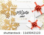 christmas background with gifts ... | Shutterstock .eps vector #1165042123