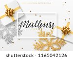 christmas background with gifts ... | Shutterstock .eps vector #1165042126