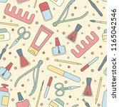 vector illustration manicure... | Shutterstock .eps vector #1165042546