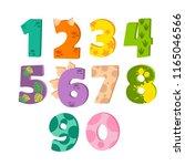 dinosaur figures for designing... | Shutterstock .eps vector #1165046566