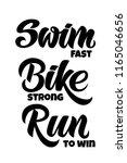 triathlon hand drawn lettering  ... | Shutterstock .eps vector #1165046656