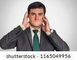portrait of a man without mouth ... | Shutterstock . vector #1165049956