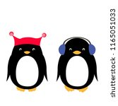 vector illustration with cute... | Shutterstock .eps vector #1165051033