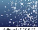snow flakes falling macro... | Shutterstock .eps vector #1165059169