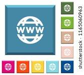 www globe white icons on edged...   Shutterstock .eps vector #1165060963