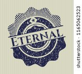 blue eternal distressed rubber... | Shutterstock .eps vector #1165062523
