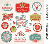 set of labels and elements for... | Shutterstock .eps vector #116506270