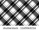 black white plaid seamless... | Shutterstock . vector #1165063216