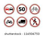 road signs set. raster version... | Shutterstock . vector #116506753