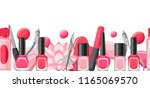 banner with manicure tools.... | Shutterstock .eps vector #1165069570