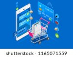 online shopping  concept of... | Shutterstock .eps vector #1165071559