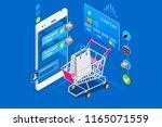 online shopping  concept of... | Shutterstock .eps vector #1165071559