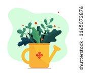 garden plants and flowers in...   Shutterstock .eps vector #1165072876