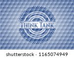 think tank blue emblem with... | Shutterstock .eps vector #1165074949