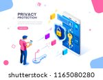 infographic  banner with hero... | Shutterstock . vector #1165080280