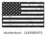 Flag Of Usa.vector Grunge...