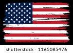 flag of usa.vector grunge... | Shutterstock .eps vector #1165085476