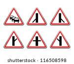 road signs set. raster version... | Shutterstock . vector #116508598