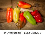red  green and yellow bell... | Shutterstock . vector #1165088239