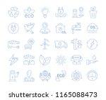 set vector line icons in flat... | Shutterstock .eps vector #1165088473