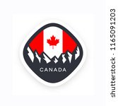 canada symbol with  anadian... | Shutterstock .eps vector #1165091203