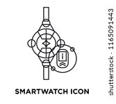 smartwatch icon vector isolated ... | Shutterstock .eps vector #1165091443