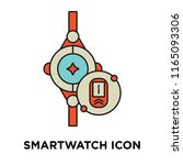 smartwatch icon vector isolated ... | Shutterstock .eps vector #1165093306