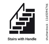 stairs with handle icon vector... | Shutterstock .eps vector #1165094746