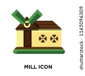 mill icon vector isolated on... | Shutterstock .eps vector #1165096309