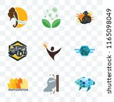set of 9 transparent icons such ... | Shutterstock .eps vector #1165098049