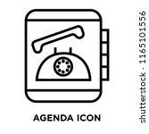 agenda icon vector isolated on... | Shutterstock .eps vector #1165101556