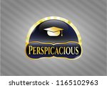 gold emblem or badge with... | Shutterstock .eps vector #1165102963