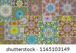vector patchwork quilt pattern. ... | Shutterstock .eps vector #1165103149