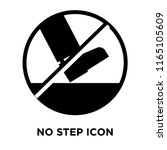 no step icon vector isolated on ... | Shutterstock .eps vector #1165105609