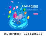 device with character concept....   Shutterstock . vector #1165106176